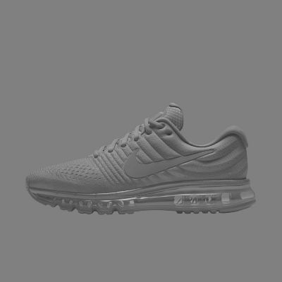 mens nike air max 2017 grey\/black screen