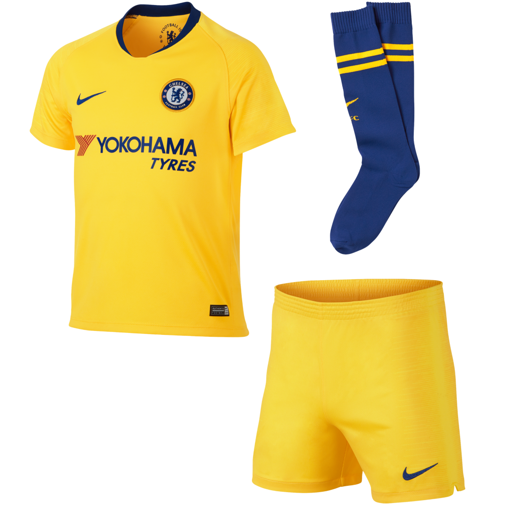 58ef6a15f 2018 19 Chelsea FC Stadium Away Younger Kids  Football Kit. Nike.com UK