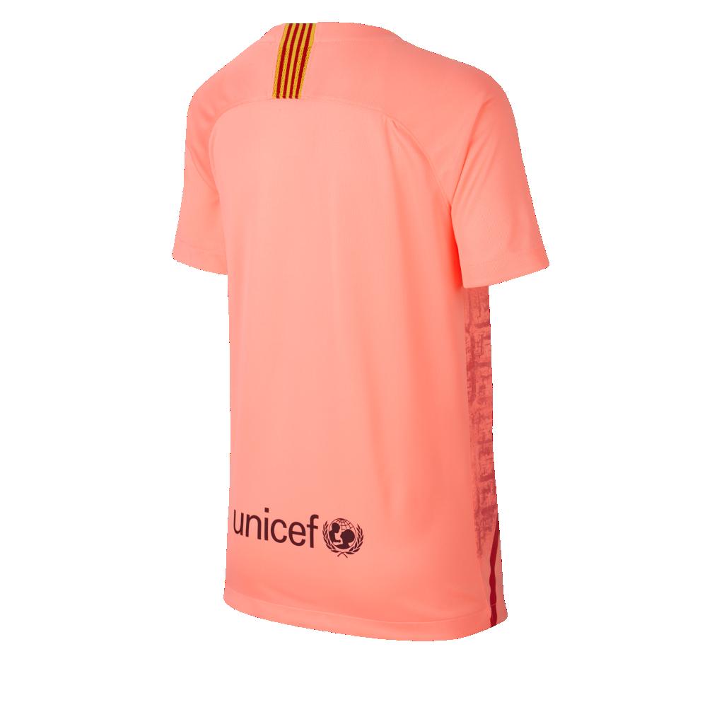 afb927b62 2018 19 FC Barcelona Stadium Third Older Kids  Football Shirt. Nike ...
