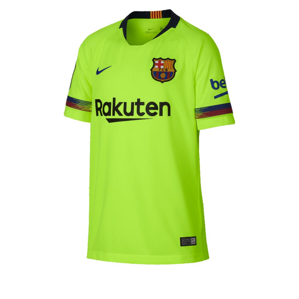 2018 19 FC Barcelona Stadium Away Older Kids  Football Shirt. Nike ... 6a8d491400781