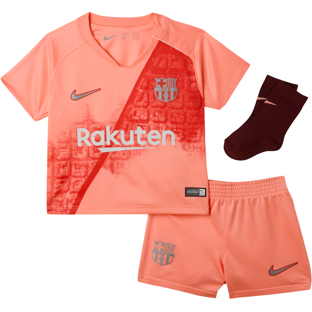 99437352f 2018 19 FC Barcelona Stadium Third. Baby and Toddler Football Kit£39.95
