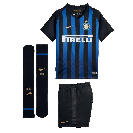 8cfd2d403362 2018 19 Inter Milan Stadium Home Younger Kids  Football Kit. Nike.com UK