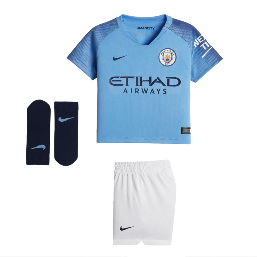 e1a882f01 2018 19 Manchester City FC Stadium Home Baby   Toddler Football Kit ...