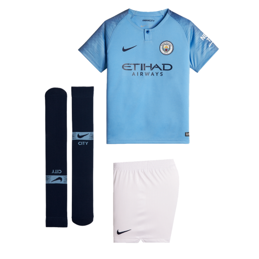 2018 19 Manchester City FC Stadium Home. Younger Kids  Football Kit£44.95 f9a2ade93