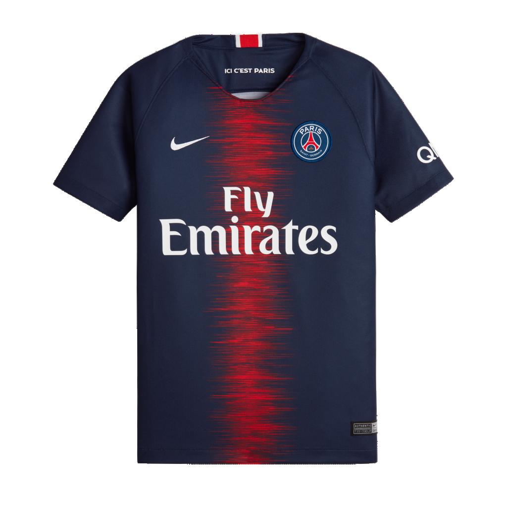 d9e46c7de531b8 2018 19 Paris Saint-Germain Stadium Home. Older Kids  Football Shirt£35.97