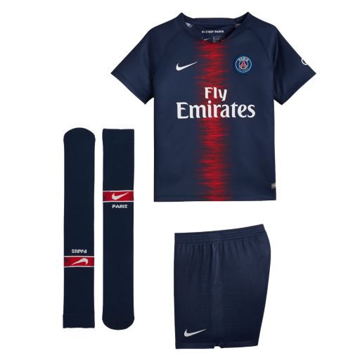 c38ab1fcdcc79 2018 19 Paris Saint-Germain Stadium Home. Younger Kids  Football Kit£44.95