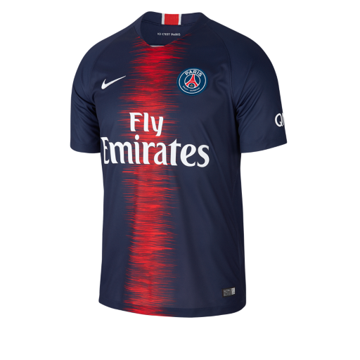 1f0b449fd204 2018 19 Paris Saint-Germain Stadium Home Men s Football Shirt. Nike ...