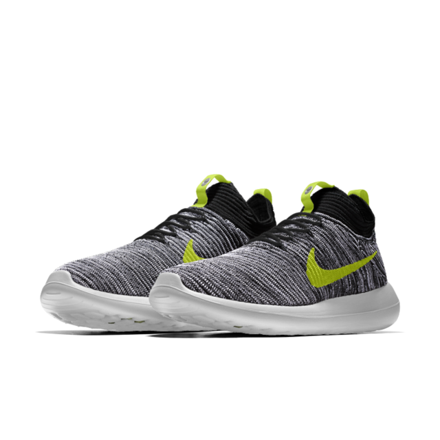 Nike Women Roshe Two Flyknit Hi (black / black white Zumba Fit